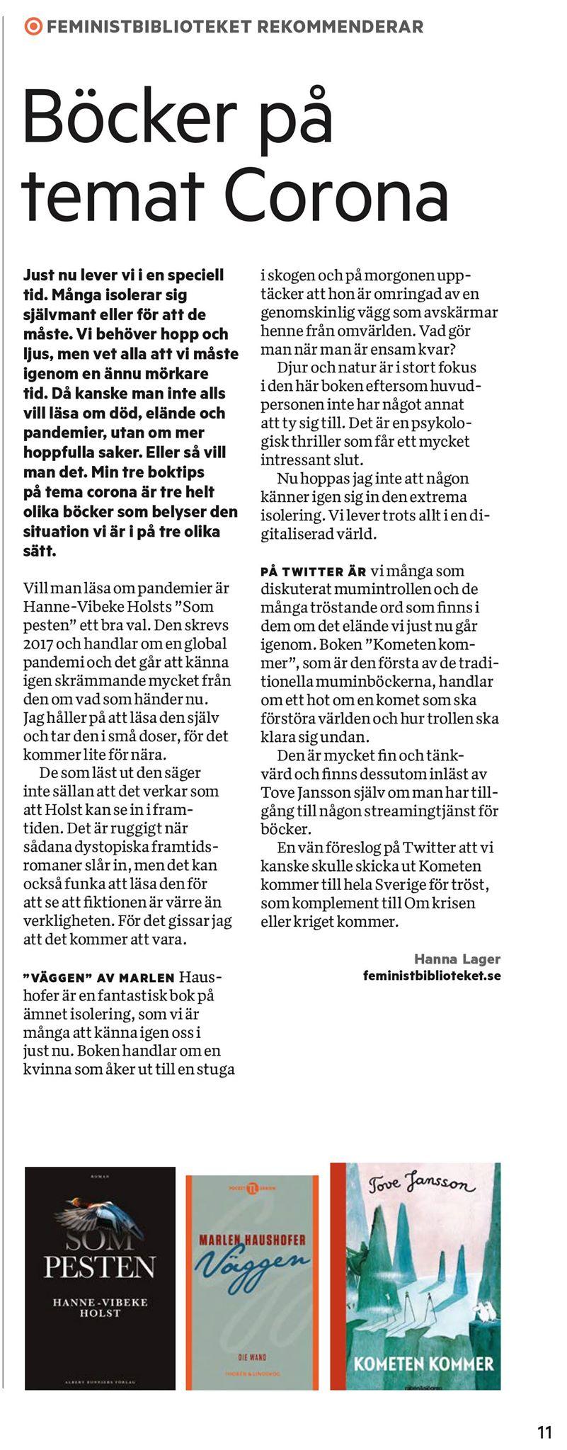 Coronatips i Tidningen Nu