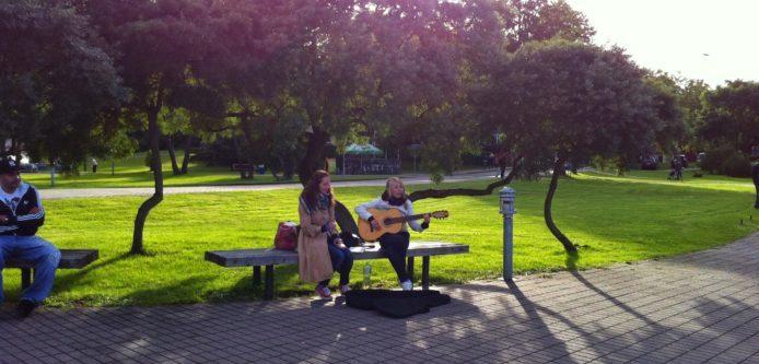 Gatumusikanter i Nida, Litauen