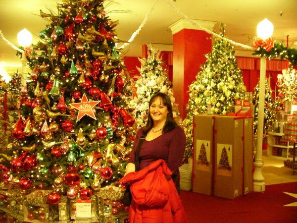 Julpynt på Macys i New York