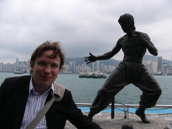 Andreas och Bruce Lee