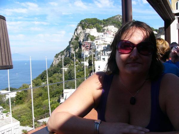 Hanna på Capri
