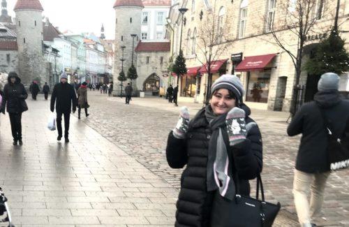 Hanna med ullvantar i Tallinn