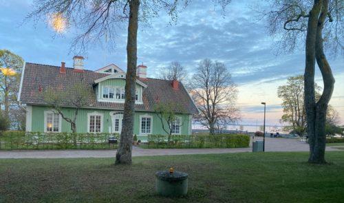 Utsikt från Hotel Bellevue i Hjo