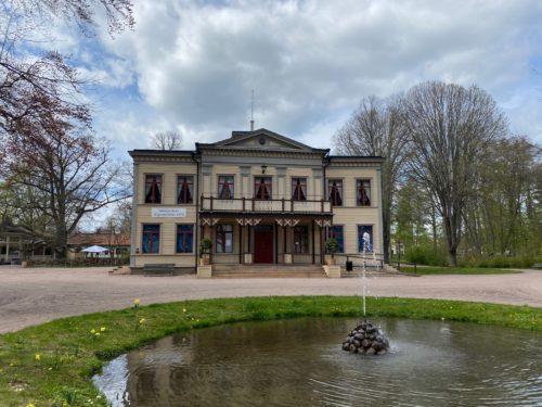 Huset där Fjärilsmuseet låg på åttiotalet i Hjo Stadspark