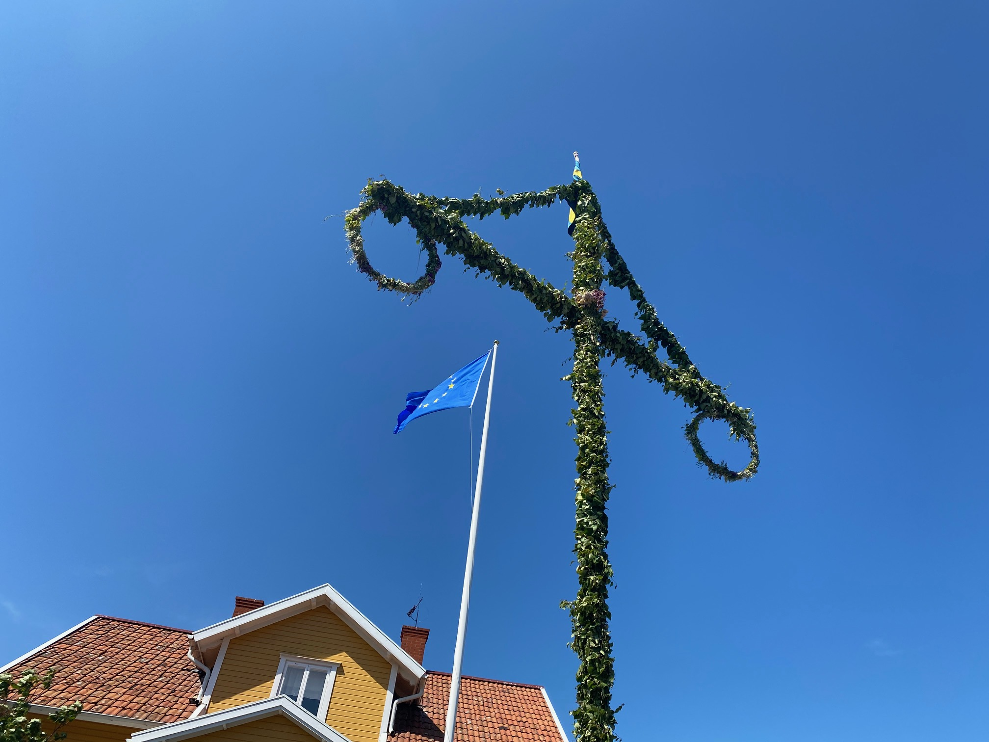 Midsommar och EU på Landsort