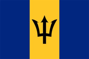 Barbados flagga