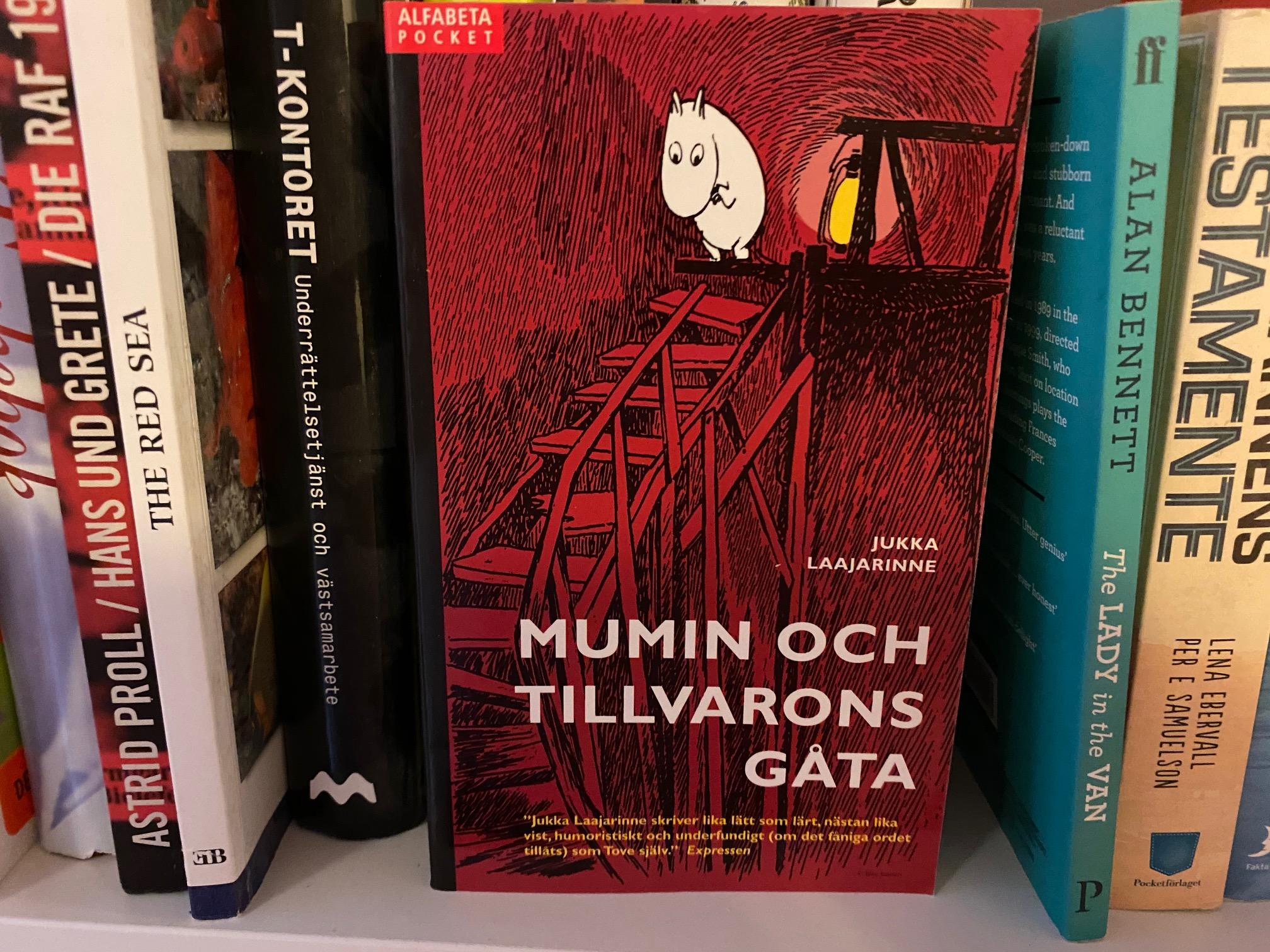 Mumin i min bokhylla
