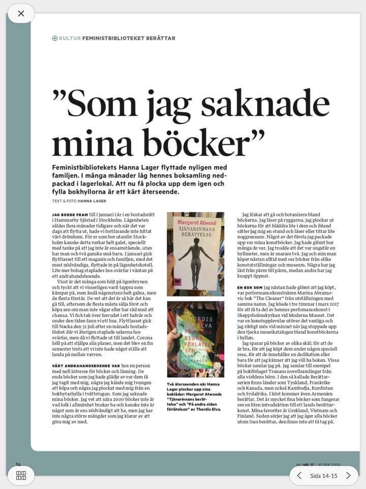 Mina böcker i Tidningen Nu
