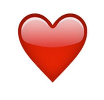 rött hjärta snapchat