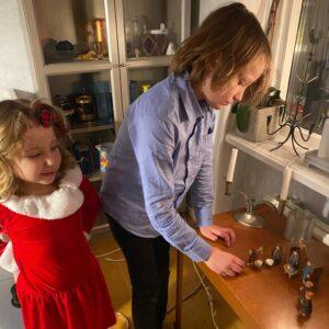 Barnen och julkrubban