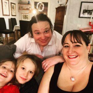 Familjen på nyår 2020