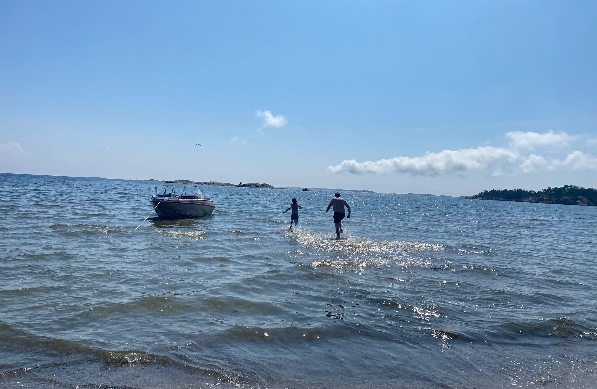Bad på Järflotta sommaren 2021