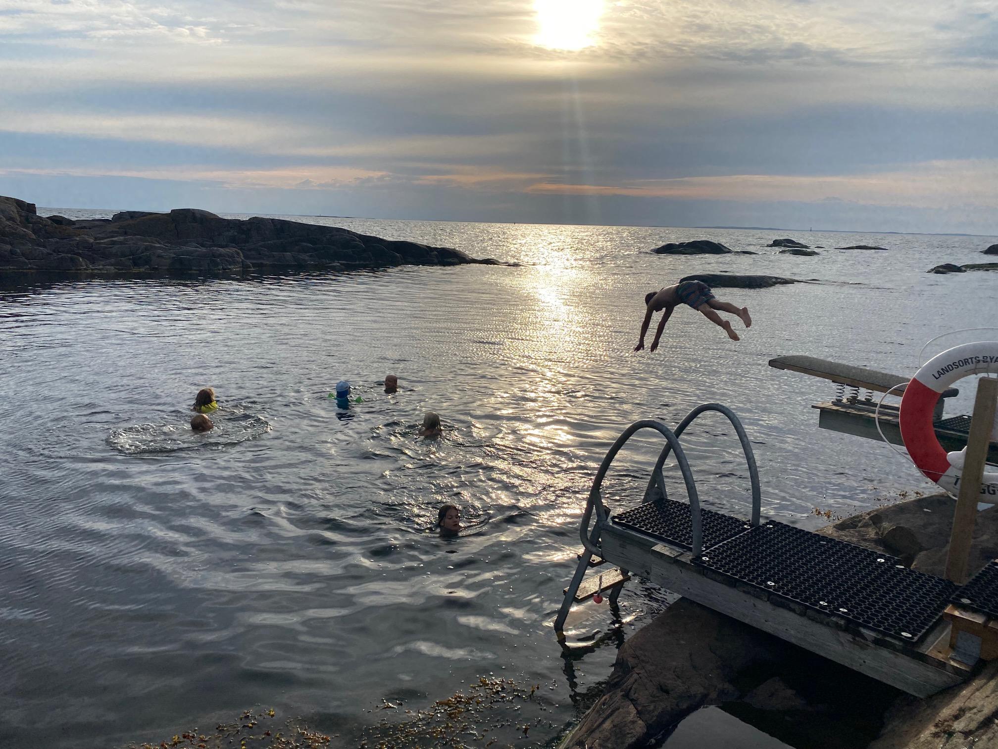 Bad på Landsort sommaren 2021