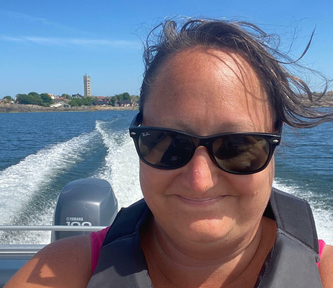 Jag njuter av båttur