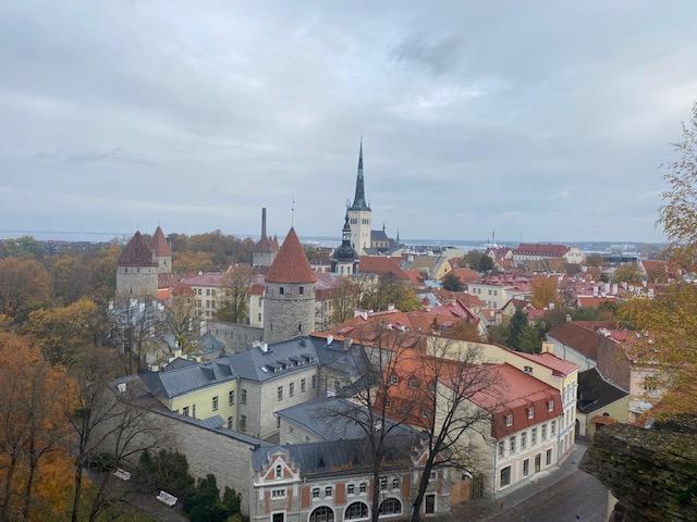 Utsikt över Gamla Stan i Tallinn